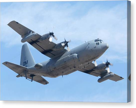 Lockheed Ec-130h Compass Call Hercules 73-1584 Davis-monthan Afb Arizona March 8 2011 Canvas Print