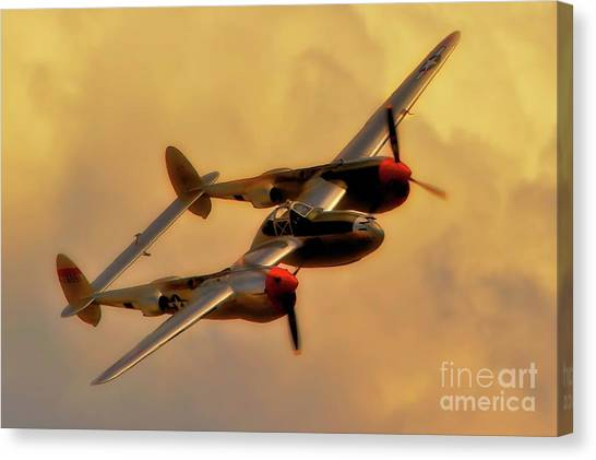 Lockheed P-38 Lightning 2011 Chino Air Show Canvas Print