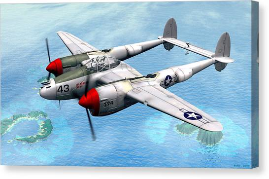 Lockheed P-38 Lightning Canvas Print