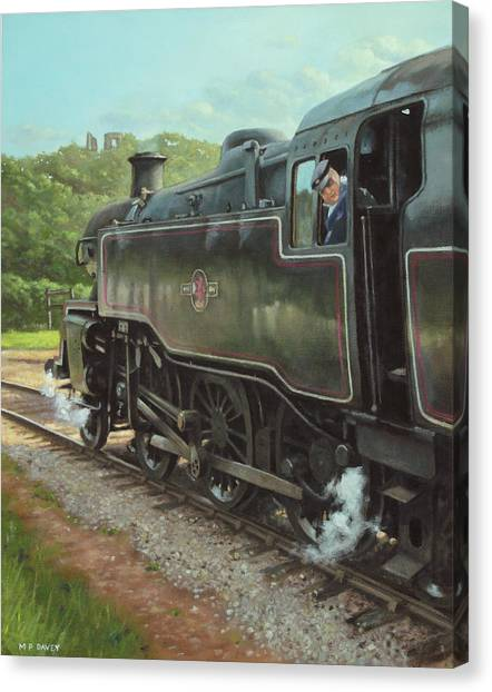 Locomotive At Swanage Railway Canvas Print