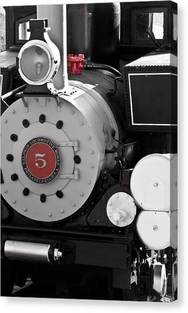 Locomotive Number Five Canvas Print