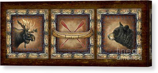 Canoes Canvas Print - Lodge Panel by JQ Licensing
