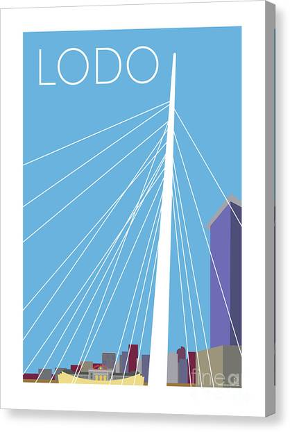 Lodo/blue Canvas Print