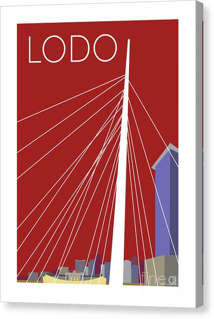 Lodo/maroon Canvas Print