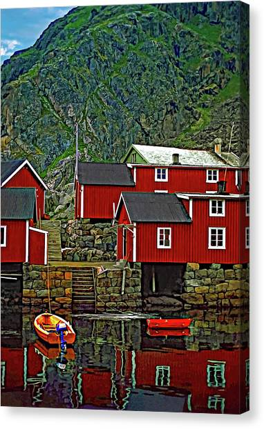 Lofoten Fishing Huts Canvas Print