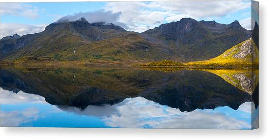 Canvas Print featuring the photograph Lofoten Lake by James Billings