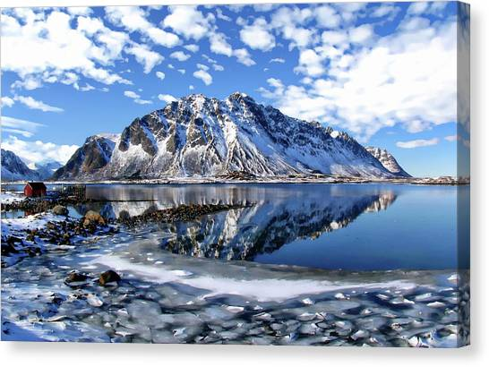 Lofoten Winter Scene Canvas Print