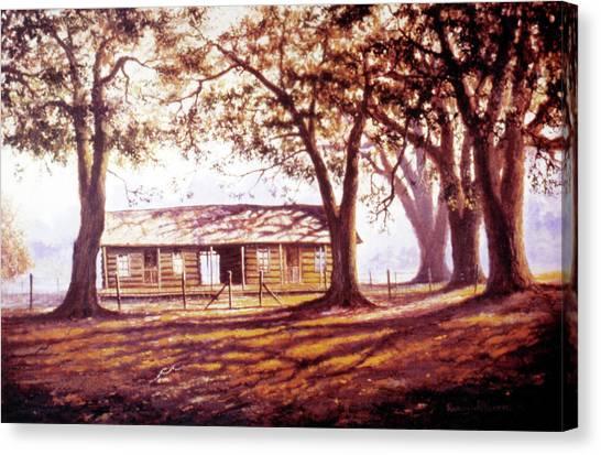 Log House On 421 Canvas Print