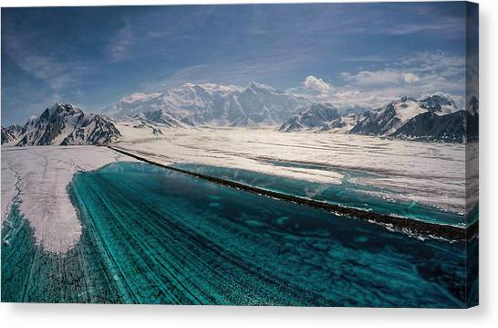 Logan Glacier Meltwater Canvas Print