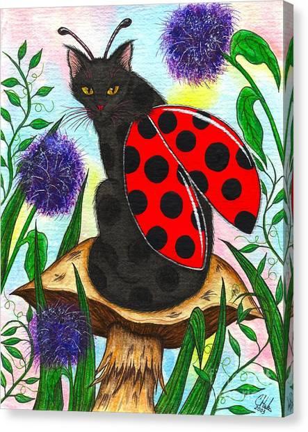 Logan Ladybug Fairy Cat Canvas Print
