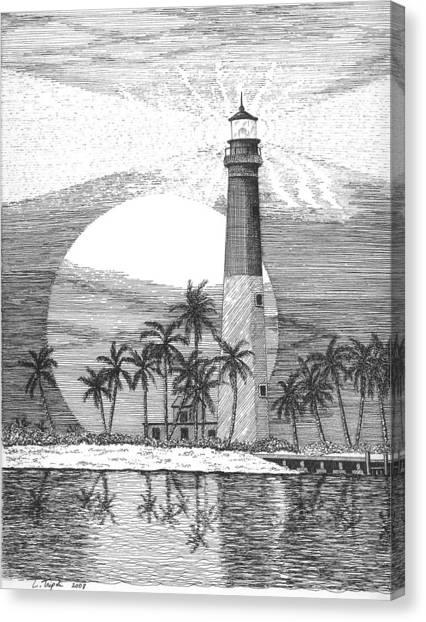 Loggerhead Key Lighthouse Canvas Print