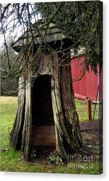 Loggers Outhouse Canvas Print