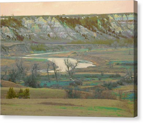 Logging Camp River Reverie Canvas Print