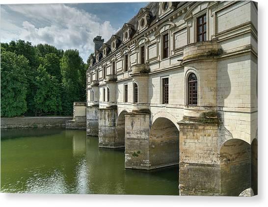 Chenonceau Castle Canvas Print - Loire Valley 2 by Janet Fikar