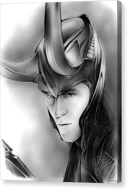 Avengers Canvas Print - Loki by Greg Joens