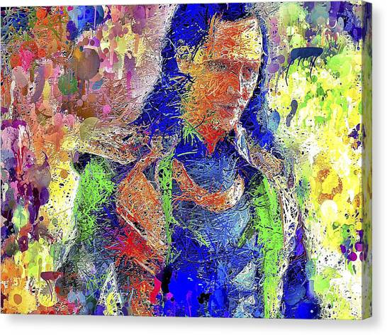 Canvas Print featuring the mixed media Loki by Al Matra