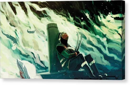 Water Skis Canvas Print - Loki by Super Lovely
