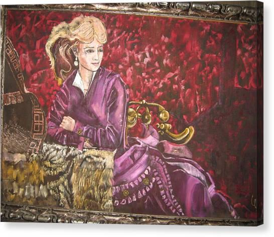 Lola Montez Canvas Print by Lila Witt Locati
