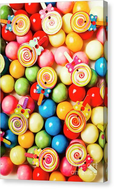 Lolly Shop Pops Canvas Print