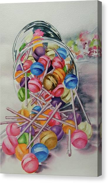 Lollypops Canvas Print