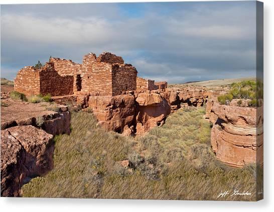 Lomaki Pueblo Ruins Canvas Print