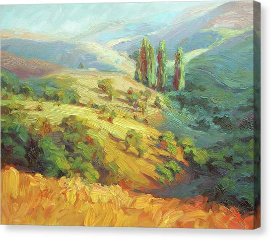 Impressionism Canvas Print - Lombardy Homestead by Steve Henderson