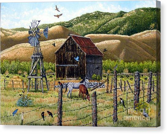 Lompa Valley Ranch Canvas Print by Santiago Chavez