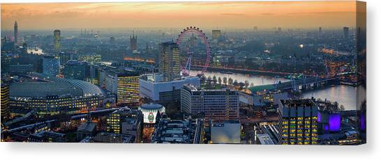 London At Sunset Canvas Print