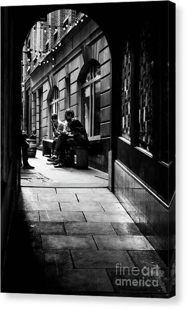 London Backstreet Alley Canvas Print