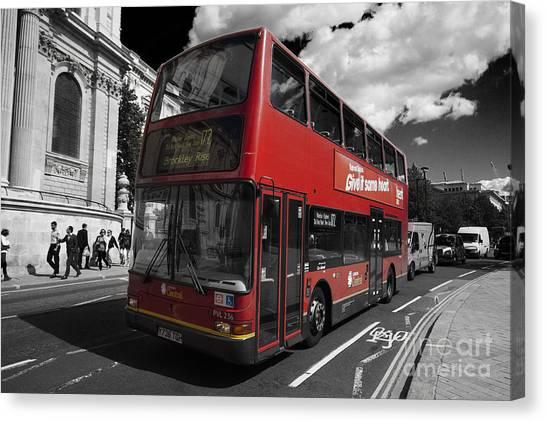 London Bus Canvas Print
