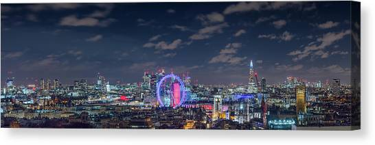 Canvas Print featuring the photograph London By Night by Stewart Marsden