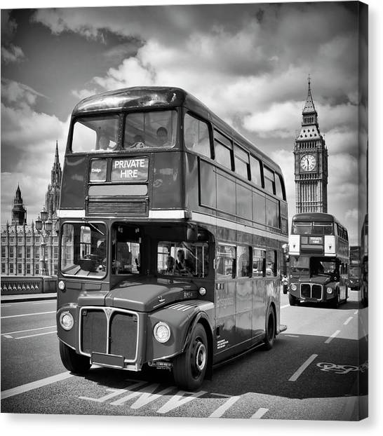 Palace Of Westminster Canvas Print - London Classical Streetscene by Melanie Viola