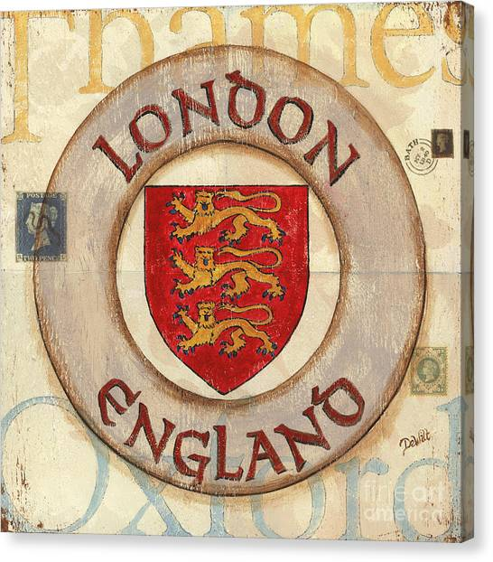 London Canvas Print - London Coat Of Arms by Debbie DeWitt