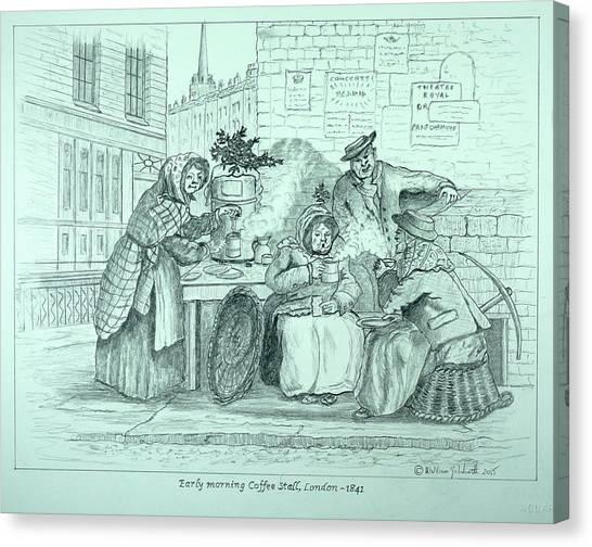 London Coffee Stall Canvas Print