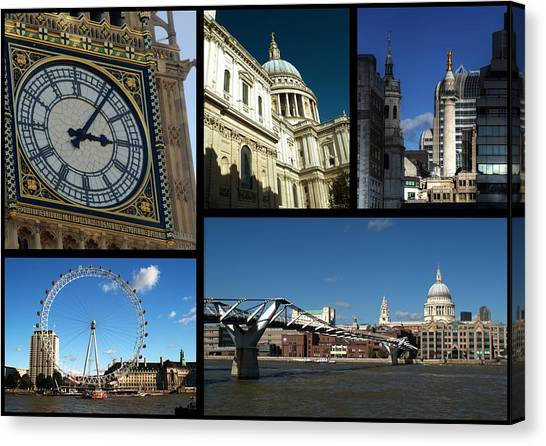 London Collage Canvas Print