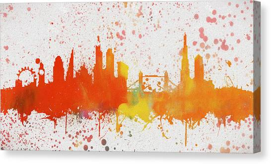 Brexit Canvas Print - London Colorful Skyline by Dan Sproul