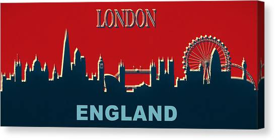 Brexit Canvas Print - London England Skyline by Dan Sproul
