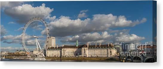 London Eye Canvas Print - London Eye by Adrian Evans