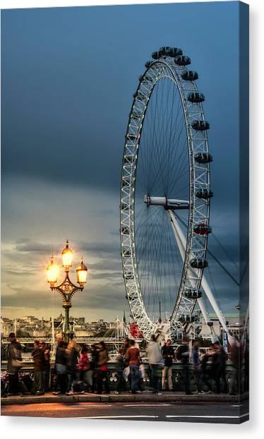 London Eye At Dusk Canvas Print