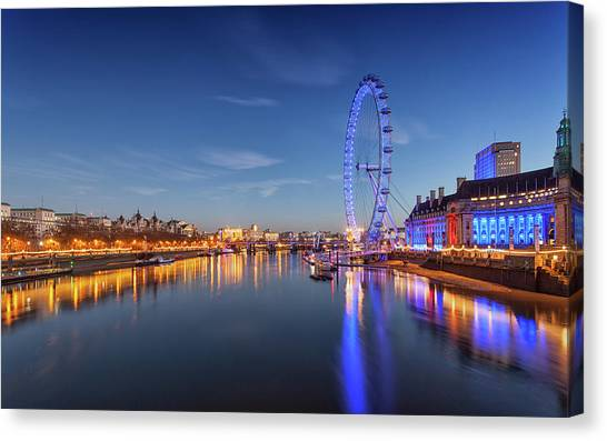 London Eye Canvas Print - London Eye by Mariel Mcmeeking