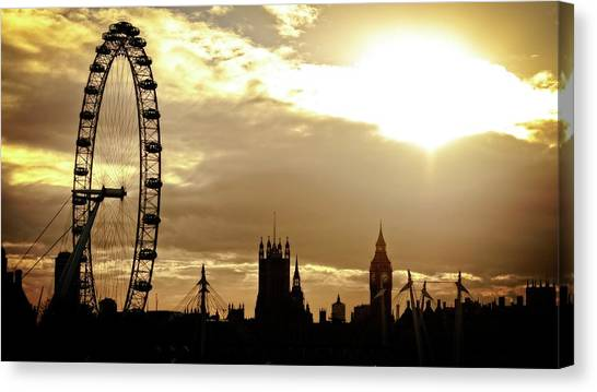 London Eye Canvas Print - London Eye by Maye Loeser