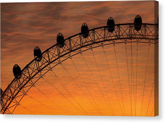 London Canvas Print - London Eye Sunset by Martin Newman