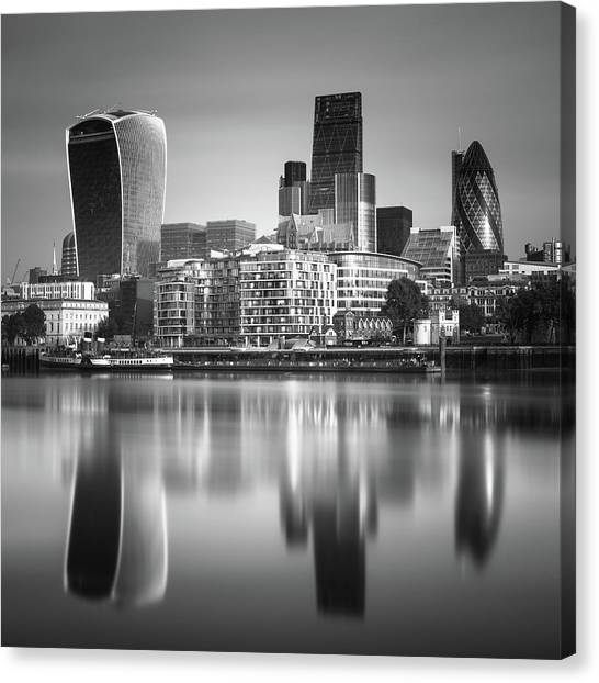 England Canvas Print - London Financial District by Ivo Kerssemakers