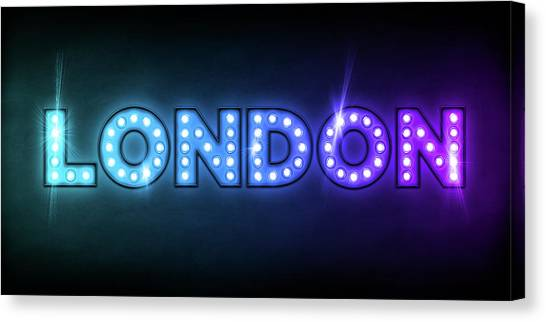 London Canvas Print - London In Lights by Michael Tompsett