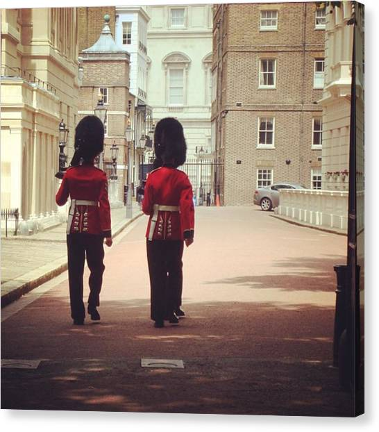 Royal Guard Canvas Print - #london #londoner #londres #uk #queen by Gerardo Tavitas
