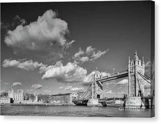 Tower Of London Canvas Print - London Monochrome by Colin and Linda McKie