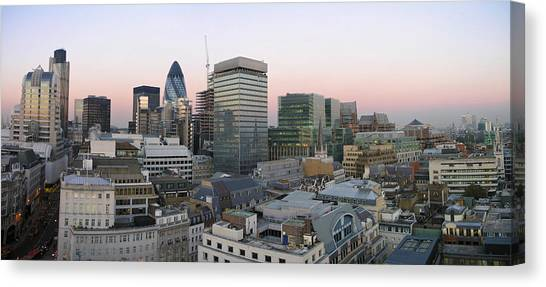 Business-travel Canvas Print - London Panorama From The Monument by Romeo Reidl