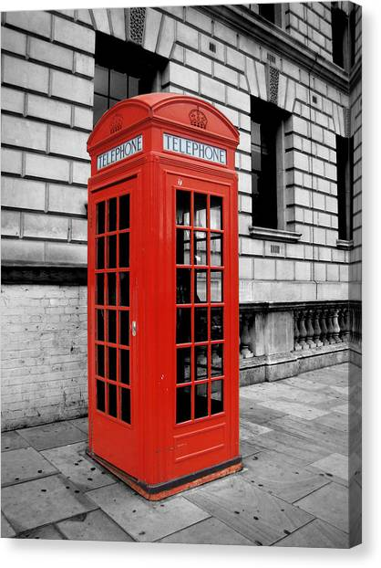 London Canvas Print - London Phone Booth by Rhianna Wurman