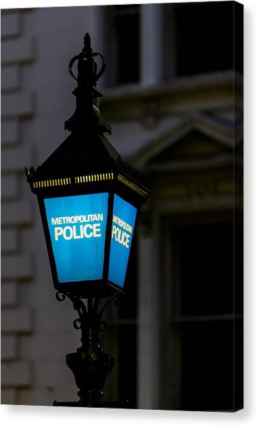 London Police Lamp Canvas Print