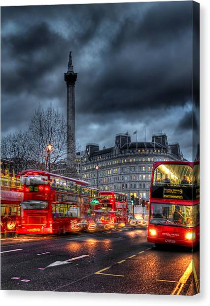 London Red Buses Canvas Print
